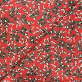 Tissu coton Rifle Paper co. Holiday Classics - Mistletoe - rouge x 10cm