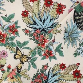 Alexander Henry cotton fabric - beige Hacienda cactus x 10 cm