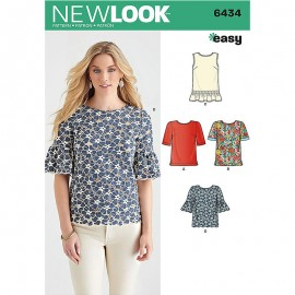 Ruffled Top sewing Pattern for Woman - New Look 6434