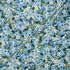 Tissu coton Rifle Paper co. Wildwood - Garden party - bleu x 10cm