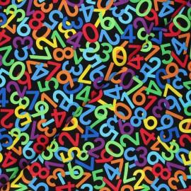 Timeless Treasures cotton fabric - black Number dance x 10cm