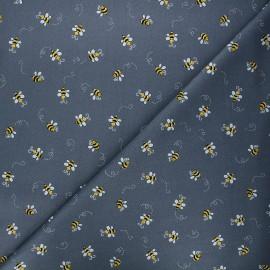 Andover Fabrics cotton fabric - dark grey Bumble bee x 10cm