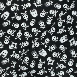 Dear Stella cotton fabric Pour some sugar on me - black Shot through the heart x 10cm