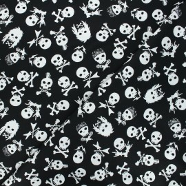 Tissu coton Dear Stella Pour some sugar on me - Shot through the heart - noir x 10cm