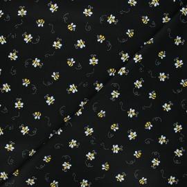 Tissu coton Andover Fabrics Bumble bee - noir x 10cm