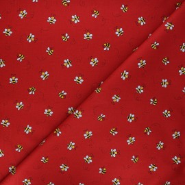 Andover Fabrics cotton fabric - red Bumble bee x 10cm