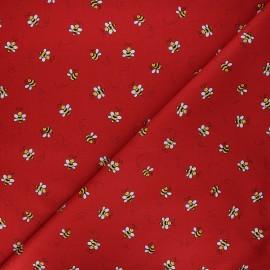 Tissu coton Andover Fabrics Bumble bee - rouge x 10cm