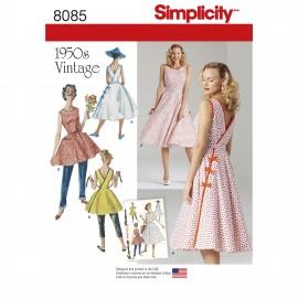 Patron robe vintage Femme - Simplicity n°8085