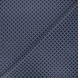 Tissu coton cretonne Emil - bleu marine x 10cm