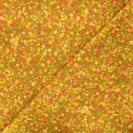Tissu coton Andover Fabrics Tuesday - jaune curry x 10cm