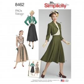 Patron ensemble vintage Femme - Simplicity n°8462