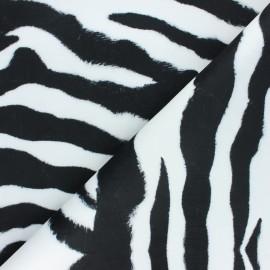 Short velvet fabric - black Zebra x 10cm