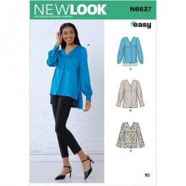 Pleated Blouse sewing Pattern for Woman - New Look 6637