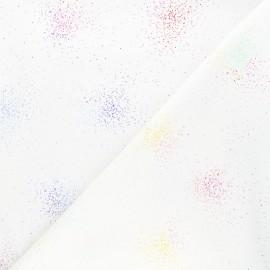 Tissu coton Andover Fabrics Sand - blanc x 10cm
