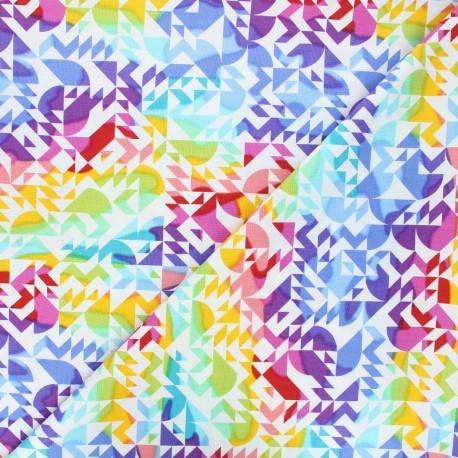 Andover Fabrics cotton fabric - white Come on over x 10cm