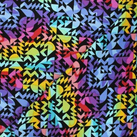 Tissu coton Andover Fabrics Come on over - noir x 10cm
