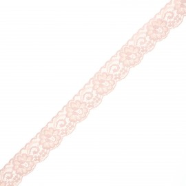 30 mm elastic lace ribbon - light pink Pizzie x 1m