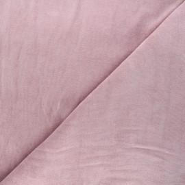 Tissu jersey velours éponge - eau de rose x 10cm