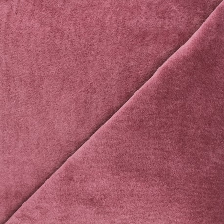 Terry-cloth jersey fabric - rosewood x 10cm