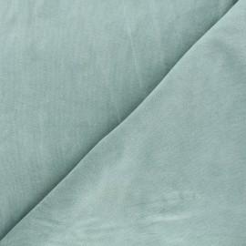 Tissu jersey velours éponge - vert sauge x 10cm