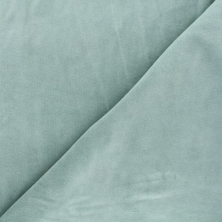 Terry-cloth jersey fabric - sage green x 10cm