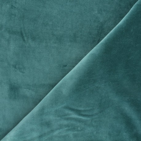 Terry-cloth jersey fabric - sarcelle green x 10cm