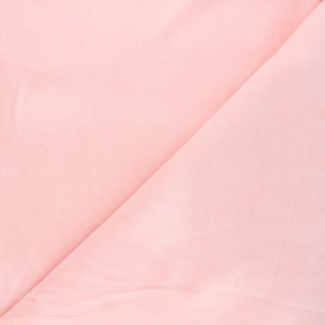 Terry-cloth jersey fabric - baby pink x 10cm