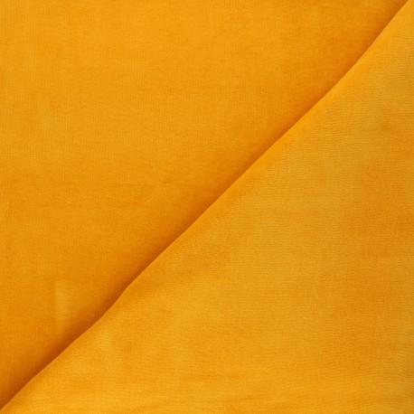 Terry-cloth jersey fabric - sun yellow x 10cm