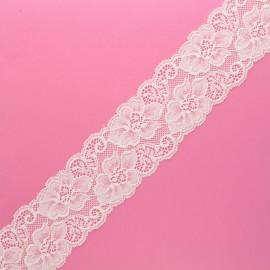 60 mm elastic lace ribbon - raw Eriya x 1m