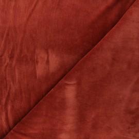 Tissu jersey velours éponge - terracotta x 10cm
