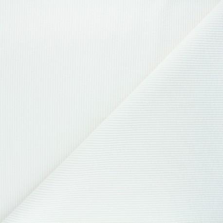 Washed ribbed velvet fabric - raw Jules x 10cm