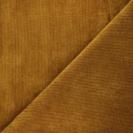 Tissu velours côtelé washé Jules - camel x 10cm