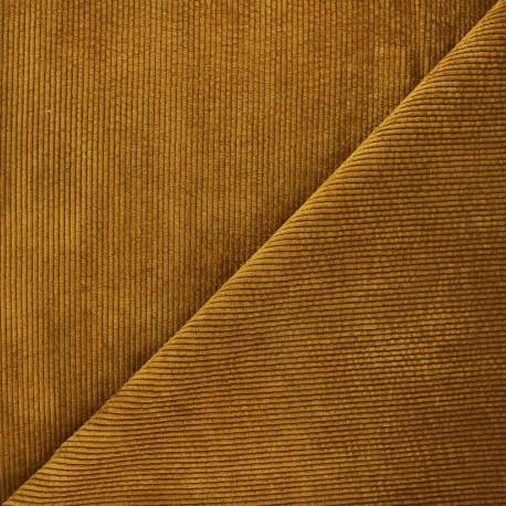 Washed ribbed velvet fabric - camel Jules x 10cm