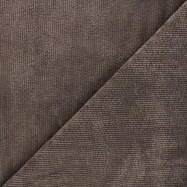 Tissu velours côtelé washé Jules - marron x 10cm