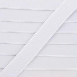 Elastique plat Woki - blanc x 1m