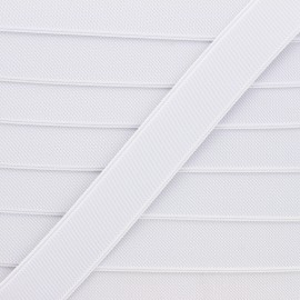 Flat elastic - white Woki x 1m