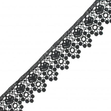 45 mm guipure lace - black Selma x 1m