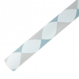 Self Adhesive Paper 45 cm x 2 m - blue checks