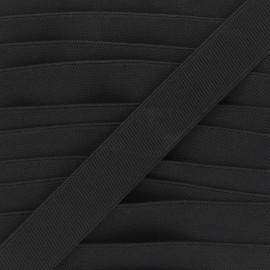 Elastique plat Woki - noir x 1m