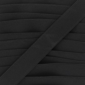 Flat elastic - black Woki x 1m