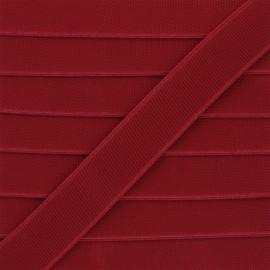 Flat elastic - ruby red Woki x 1m