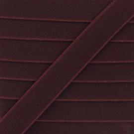 Flat elastic - plum purple Woki x 1m