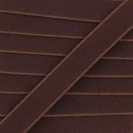 Elastique plat Woki - marron x 1m