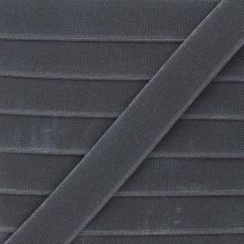 Flat elastic - anthracite grey Woki x 1m