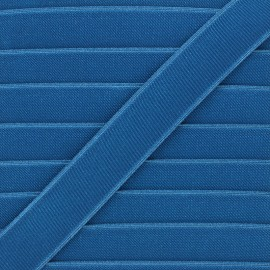 28mm Flat elastic - duck blue Woki x 1m