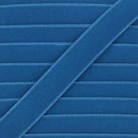 Elastique plat Woki 28mm - bleu canard x 1m