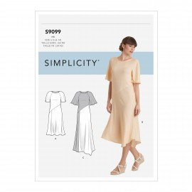 Asymmetric dress sewing Pattern for Woman - Simplicity n°S9099