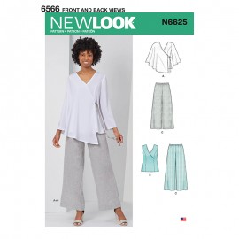 All-In-One Sewing Pattern for Woman - New Look 6625