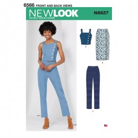 All-In-One Sewing Pattern for Woman - New Look 6627