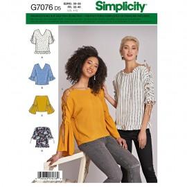 Patron Top manches lacets Femme - Simplicity n°8694